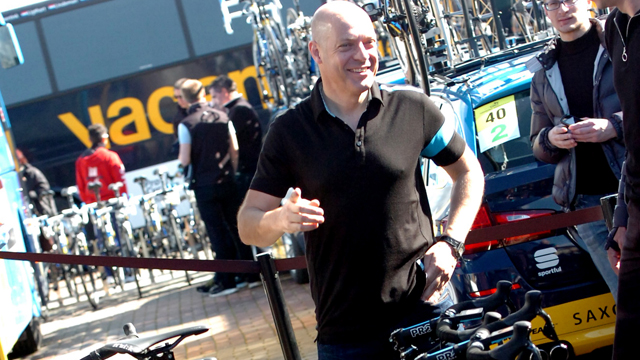 Team Sky's David Brailsford at the 2013 Tirreno-Adriatico (Sirotti)