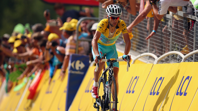 Vincenzo Nibali has been a dominant presence at the 2014 Tour de France since its beginning (Getty)