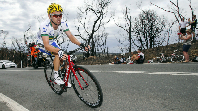 Full throttle... Jack Bobridge only knows how to ride one way. (AFP/Mark Gunter)
