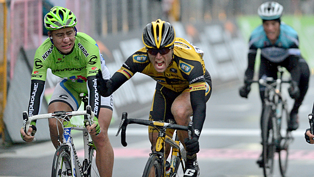 Cannondale's Peter Sagan was surprised by Gerald Ciolek of the MTN-Qhubeka at Milan-San Remo (AAP)