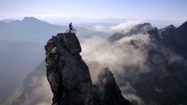 On top of the world...Danny MacAskill scaled new heights on his bike