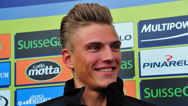 The well styled Marcel Kittel turned a moment of madness into an inspired marketing opportunity (Sirotti)