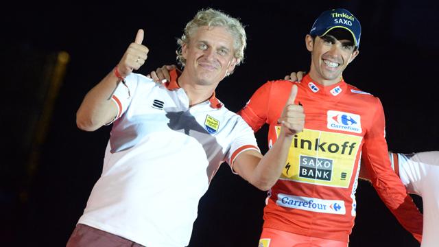 Tinkoff-Saxo owner Oleg Tinkov with his Vuelta a Espana winner Alberto Contador (Sirotti)
