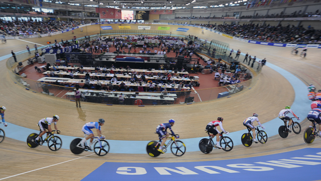 The Men's 50km Madison event of the UCI Track Cycling World Championships in Minsk, Belarus (Getty).