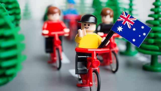 Cadel Evans...as popular as Lego  (Getty Images)