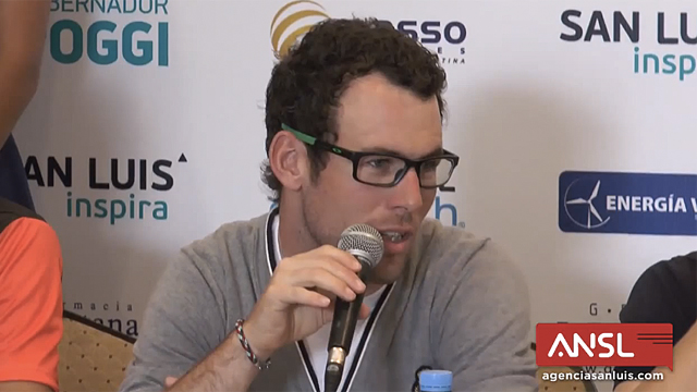 Mark Cavendish went toe-to-toe with journalists at the Tour de San Luis (CC)