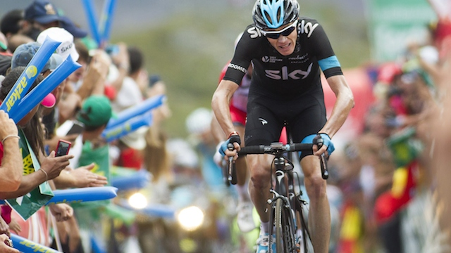 Chris Froome (pictured) and Alberto Contador have reignited their rivalry at the Vuelta a Espa�a. (Getty Images/AFP)