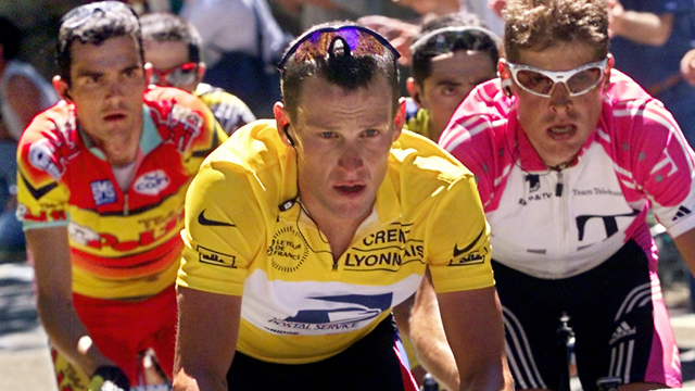 A dopy generation.. Richard Virenque, Lance Armstrong and Jan Ullrich. (Getty Images)