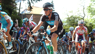 Team Sky's Simon Gerrans at the 2011 Fleche Wallonne (Image: Sirotti)