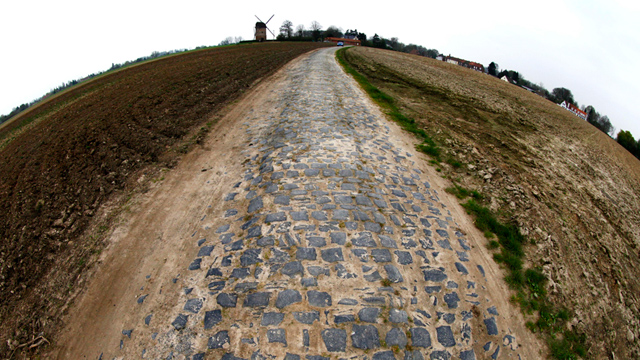 Which one of these cobbles would you like Mr. Boonen? (AAP)