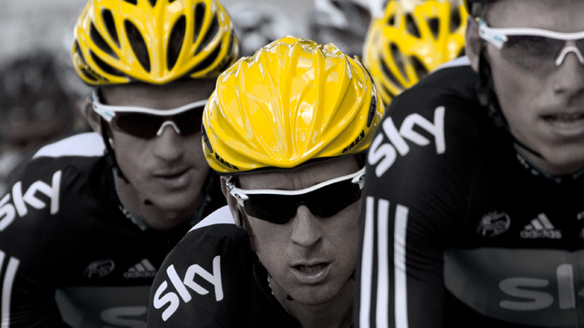 Yellow helmets are the novelty of the 2012 Tour de France. (Getty Images)
