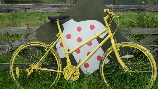 Souvenirs of the Tour de France remain in Yorkshire  (Images Steve Thomas)