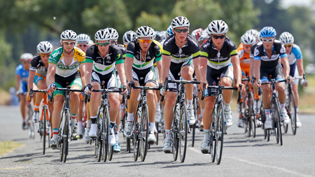 GreenEDGE riders at the Jayco Bay Cycling Classic (Image: Mark Gunter)