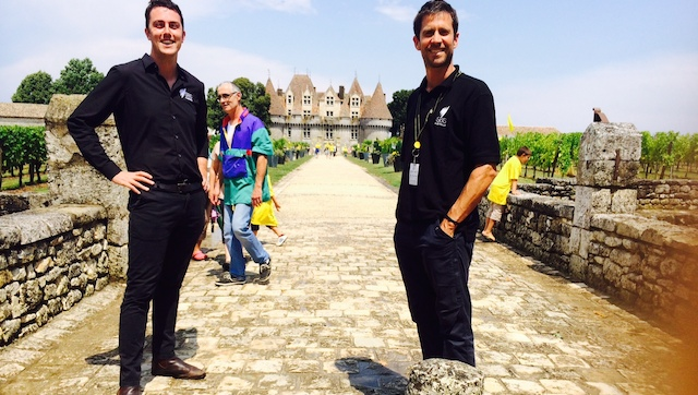 It's not all bad... Dom and I in front of the Chateau Monbazilliac. (SBS)