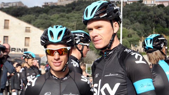 Sky team-mates Richie Porte and Chris Froome at the recent Criterium International (Getty)