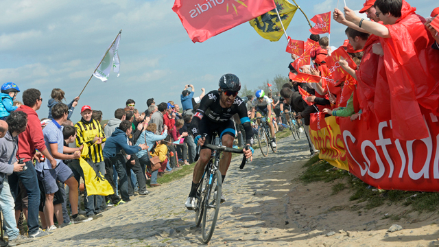 Bradley Wiggins proved he has the power to go further at Paris-Roubaix (Sirotti)