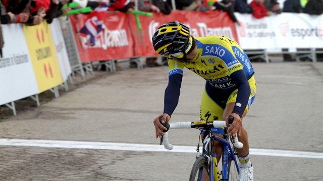 Where is everyone? Alberto Contador has been on fire over the past two months (AAP)