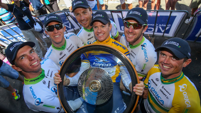 Cast of Characters....Orica GreenEDGE claimed all three of Australian's cycling crowns  (Mark Gunter)