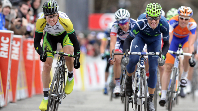 Simon Gerrans (L) and Alejandro Valverde (R) renewed their rivalry at Paris-Nice (Getty)