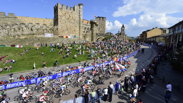Scene from the women's road race at the UCI Road World Championships (AAP)