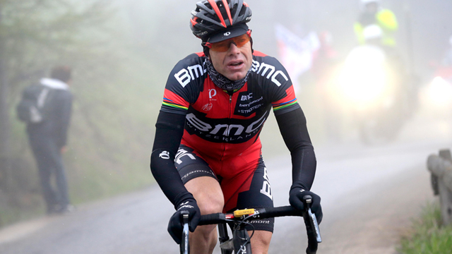 Nothing to prove...  Cadel Evans has done it all, a world championship, a Tour de France win and a palmares that most would envy. The Australian has enjoyed a super return to the Giro d'Italia where he sits second overall and is within a sniff of pink. (Sirotti)