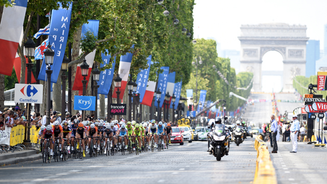 The women's La Course was a huge event which raised the profile of women's professional cycling (AAP)