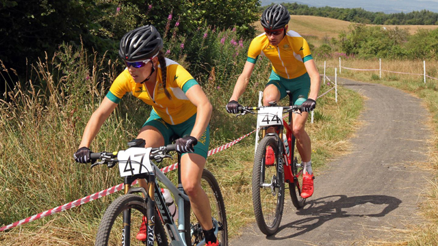 Rebecca Henderson (L) and Dan McConnell will be on the hunt for gold at the Commonwealth Games (Russell Baker)