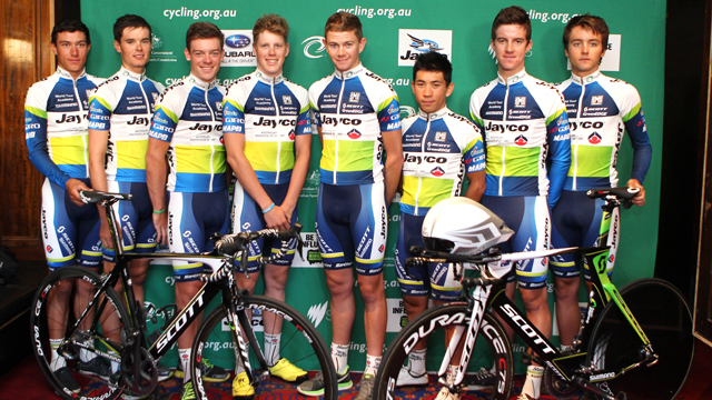 The Jayco AIS World Tour Academy class of 2014 (Cycling Australia)