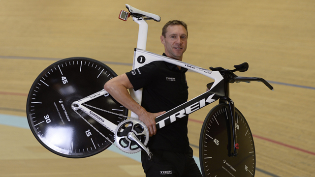Jens Voigt is expected to set a new world hour benchmark on the Velodrome Suisse  track (AAP)