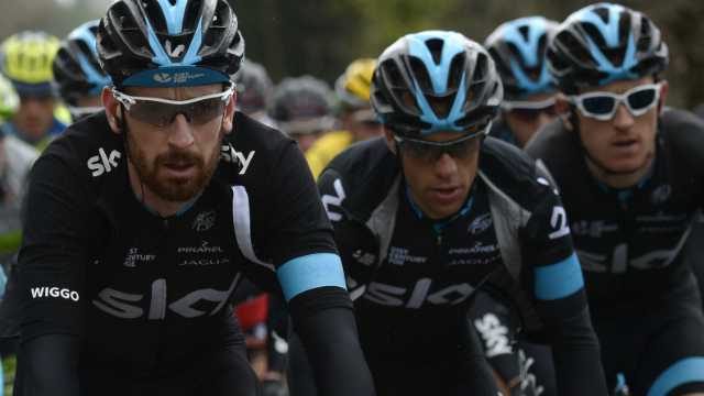 Reversal of fortune... Team Sky has enjoyed a very different start to that of their season previous. (AFP)