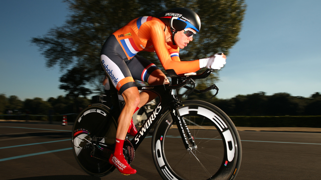 Women's UCI World Time Trial Champion Ellen van Dijk of the Netherlands (Getty)