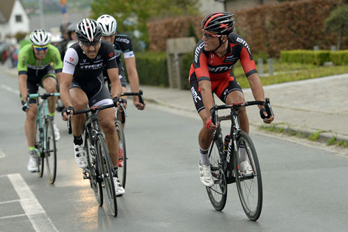 Photo: Fabian Cancellara (L) was the strongest of the final selection - AAP.