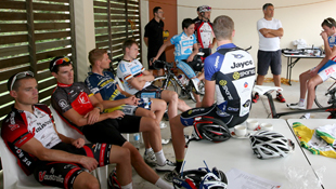 Riders and staff of Pegasus Sports wait on their Pro Continental licence application, in the hands of the UCI (Image: Anthony Tan)
