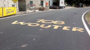Graffiti pays tribute to the Belgian cyclist Wouter Weyland (Image: Getty)
