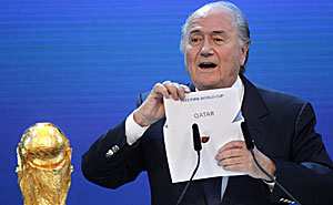 Sepp Blatter stands unopposed as president of FIFA. (Reuters)