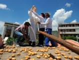 Pope statue unveiled in potato field
