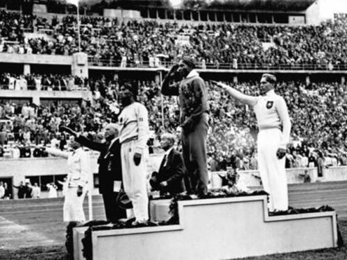 Jesse Owens smashed ideas about racial inferiority, but it made no difference to his treatment at home. (Hoffmann/German Federal Archives)
