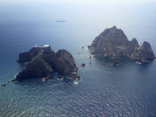 The islands at the centre of the dispute are called Dokdo in Korea and Takeshima in Japan. (AAP)