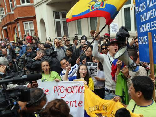 People like Assange are 'necessary to keep official excesses in check,' says Ecuador's Minister of Foreign Affairs, Ricardo Patino. (Getty Images)