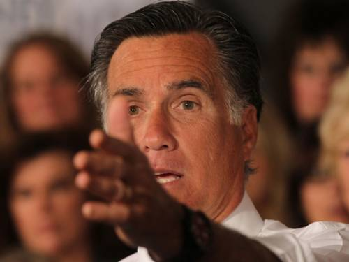 Romney ran into what was perhaps the most negative reaction to anything he has said on his year-long White House campaign when his pledge to repeal Obama's landmark health care reforms was met with loud and sustained boos. (Getty)