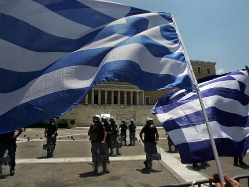 The peaceful anti-government demonstration came amid deepening social gloom as official figures showed Greece's unemployment rate surged to 24.4 per cent in June, with more than 1.2 million people out of work, many of them youths. (File: Getty)