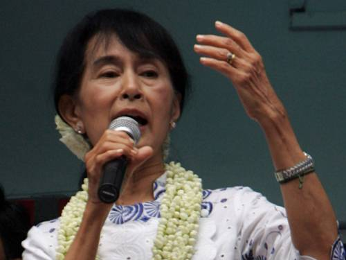 Having spent 15 of the past 22 years under house arrest, Suu Kyi has taken an increasingly global role as Burma sheds its pariah status, meeting top world dignitaries in Yangon and encouraging easing of Western economic sanctions.  (AAP)