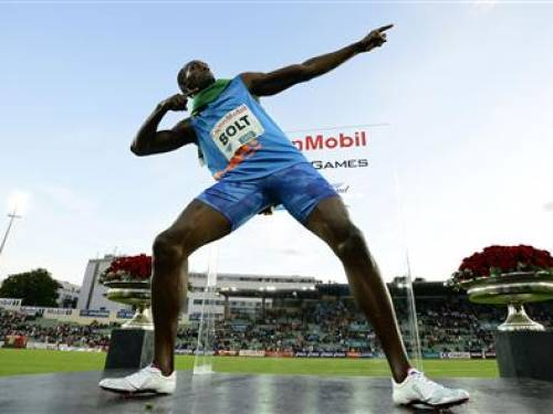 Usain Bolt of Jamaica. (AAP)