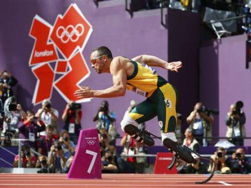 South African Oscar Pistorius made history when he became the first amputee to race on the Olympic track. (Reuters)
