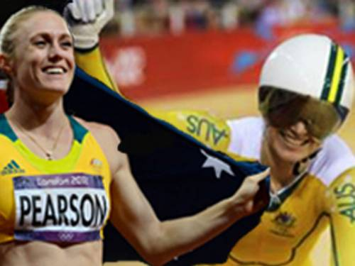 Australia's golden girls Sally Pearson and Anna Meares. (Reuters/AAP, Montage)