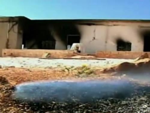 The site of the massacre in Hama, Syria. (BBC)