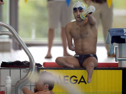 Ahmed Kelly trains for the Paralympics. (AAP)