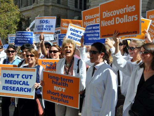 Research heads are hoping to avoid another round of government funding cuts. (AAP)
