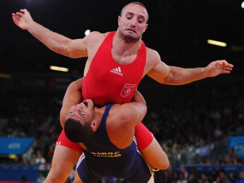 Seghaier is clearing savouring every minute of London 2012, even though his team did not land any Olympic medals in the Greco-Roman wrestling. (Getty Images)