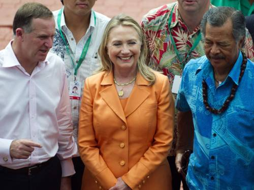 US Secretary of State Hillary Clinton has unveiled a major aid initiative targeted at women at the Pacific Islands Forum. (AAP)